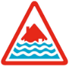 severe flood warning sign