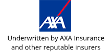 Underwritten by AXA Insurance and other reputable insurers