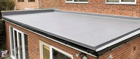 Ground floor house extension flat roof