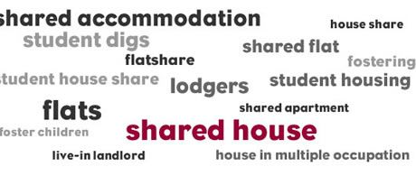 Different types of shared accommodation